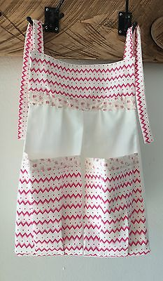 Baby Nappy/ Diaper Stacker - Chevron & flowers-Pink & white