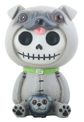 Furrybones Pugsly Figurine Pug Dog Skeleton Skull Cute Gothic Different Fun Gift