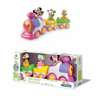 Clementoni Baby Minnie Musical Train Wind Up Toy With Sounds Age 6+ Months NEW