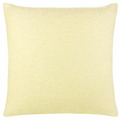 "Luxury Plain Chenille Cushion Cover Soft Covers 43 x43cm, 17x17"", Cream"