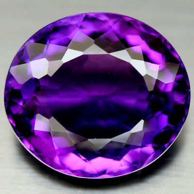 25.46 Ct Aaa! Purple Clr Change To Pink Brazilian Amethyst Oval
