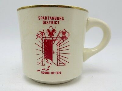 Vintage Boy Scouts of America Coffee Cup / Mug - Spartanburg District 1970