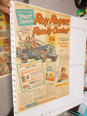 newspaper ad 1950s ROY ROGERS western cowboy Willy JEEP Columbia bicycle FULL