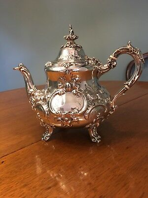 Charles Hougham Solid Silver Victorian Tea Pot