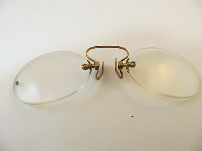 Antique Vintage 1/10th 12k Yellow Gold Filled Pince Nez Eyewear