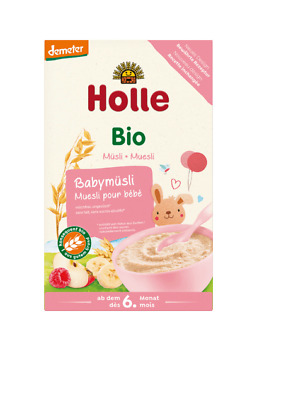 6 x HOLLE ORGANIC PORRIDGE CEREAL BABY MUESLI 250 g UP TO 6. MONTH FREE SHIPPING