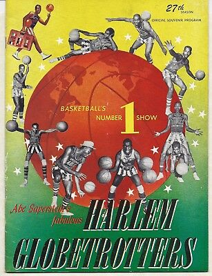 1953-54 Harlem Globetrotters Yearbook/Program (27th Season)  Mint Condition