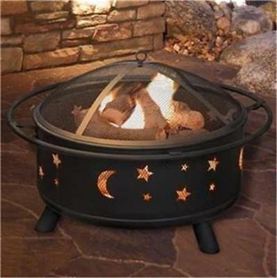 Outdoor Fire Pit Garden BBQ Patio Heater Decking Firepit Brazier Metal /D