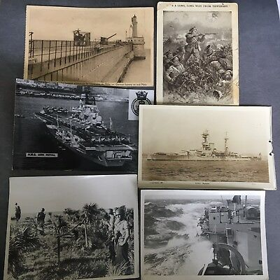 small collection of antique vintage Military photographs WWI WWII Royal Navy etc