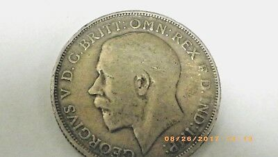 Great Britain Uk Coins, One Florin 1913, George V, Silver 0.925