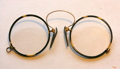 Excellent Tip Top Cond. Pince Nez Spectacles , 4 In Wide. Reusable & Genuine