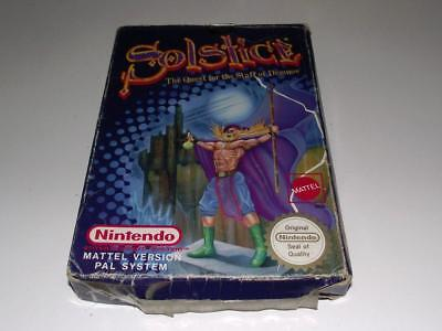 Solstice Quest for Staff of Demnos Nintendo NES Boxed PAL *No Manual*