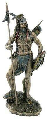 CHRISTMAS GIFT - Sioux Indian Warrior Statue Figurine Sculpture - HOME DECOR