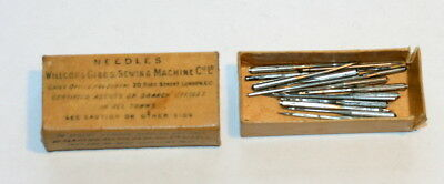 19Th Century Sewing Needles Willcox & Gibbs,  Box 1.5 In X 0.75 In  After 1876