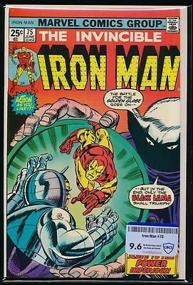 Marvel Comics Iron Man #75 1975 Cbcs Raw Grade 9.6