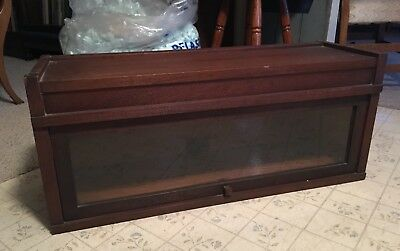Globe Wernicke Mahogany Barrister Bookcase Section/Top Art Mission