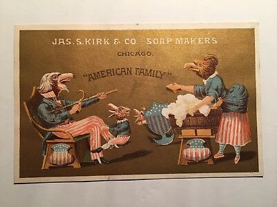 Antique JAS. S. Kirk And Company Soap Makers, American Family Trading Card