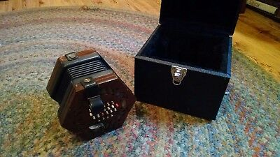 C. WHEATSTONE & Co ENGLISH CONCERTINA (#26029) 48 Button Treble with FITTED CASE