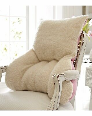 Large Generously filled Pink French Faux Sheepskin back support chair Cushion