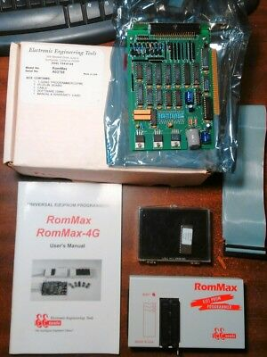 RomMax Erasable Eprom Programmer Microcontroller w Manual and Computer Board