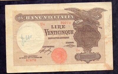25 Lire From Italy 1918 Counterfeit