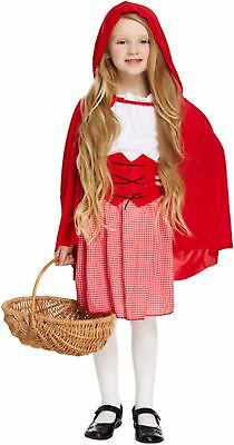 Little Red Riding Hood Childs Fancy Dress up Outfit Costume Ages 4-12 Years NEW