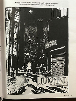 Eddy Current rare 1988 JUDGEMENT story UK Escape Mag 16 Ted Mckeever Metropol