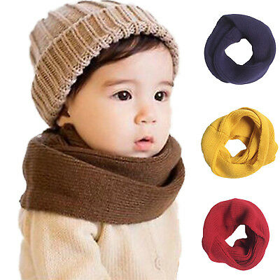 Winter Child Baby Snood Scarf Boys Girl Knit O Ring Neck Warm Neckerchief UP