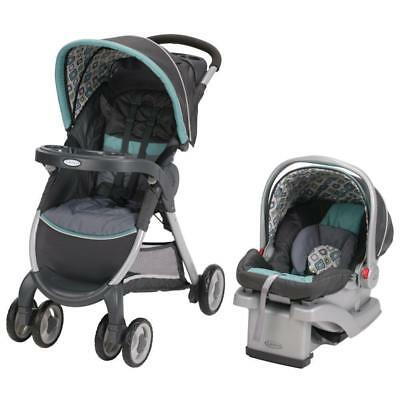 Graco FastAction Fold Click Connect Travel System, Car Seat Stroller Combo,...