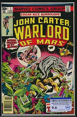 Marvel Comics John Carter, Warlord Of Mars #1 1977 Cbcs Raw Grade 9.6