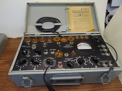 Military I-177-B Vacuum Tube Tester working condition