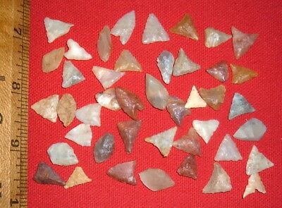 (45) Nice Assorted Mini Sahara Neolithic Points, Prehistoric African Arrowheads
