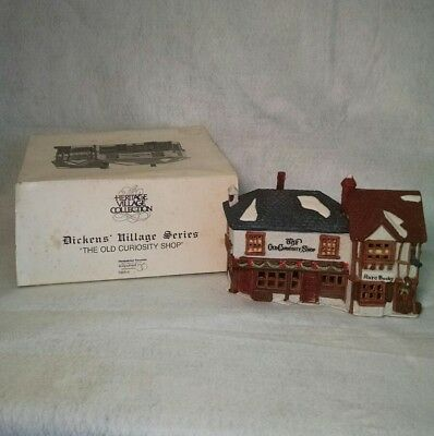 Old Curiosity Shop 1987 Dept 56 Dickens Village Series Hand Painted Porcelain
