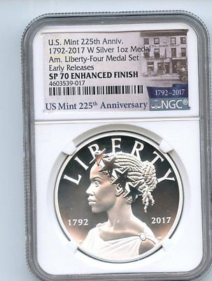 2017 W Silver American Liberty Medal NGC SP70 Enhanced Finish Early Releases