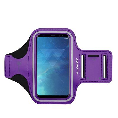 Samsung Galaxy S8 Plus Armband Case Key Holder Slot Earphone Workout Running New