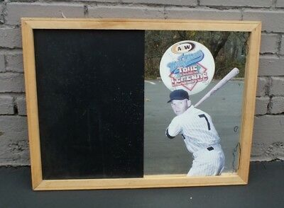 Vtg Mickey Mantle A&W Root Beer Soda Advertising Promo Mirror Chalkboard MS3