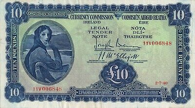 Currency Commission 10 Pound Lady Lavery 1940