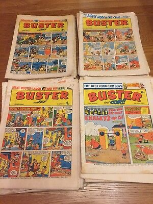 Buster, Buster & Jet and Buster & Cor comics 50 issues 1973/74/75