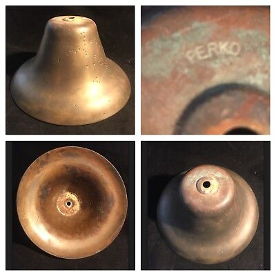 From Maine~8 INCH PERKO BRONZE/BRASS FOG SIGNAL BELL SHIP -BOAT-YACHT-SAILBOAT