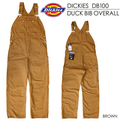 Dickies DB100RBD Rinsed Brown Duck Bib Overalls Size 32-50 *Free US Shipping*