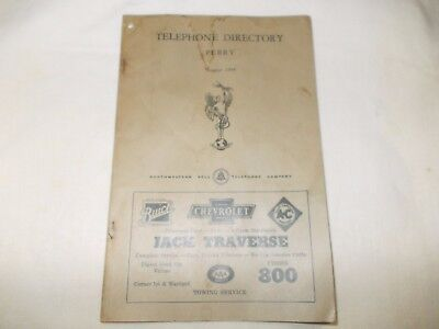 August, 1944 Perry, Iowa Telephone Book.  GOOD CONDITION, PLEASE LOOK!!!