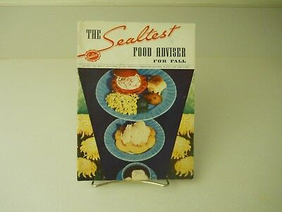 1937 The Sealtest Food Adviser For Fall 1937 Recipes 15 Pages