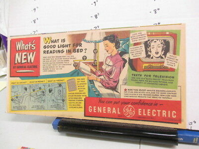newspaper ad 1951 General Electric TV bed read Florida Fashions dress pinafore