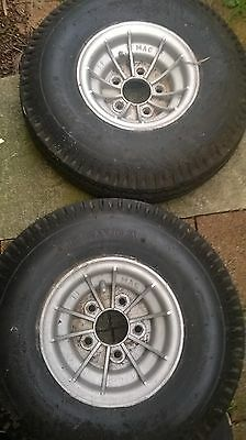 Boat trailer tyres with alloy wheels. Set of Five. Kenda 6.9/6.00-9. K364
