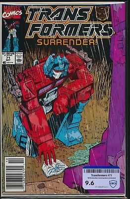 MARVEL COMICS TRANSFORMERS #71 1990 CBCS RAW GRADE 9.6 1st PUNCH/COUNTER-PUNCH