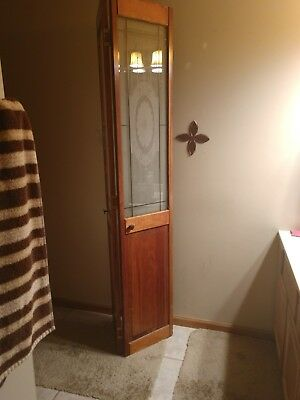 Vintage Victorian Stained Glass Door folding door