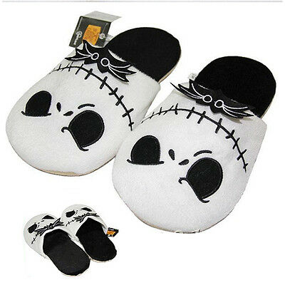 The Nightmare Before Christmas Jack Skellington Warm Soft Plush Slippers Adults