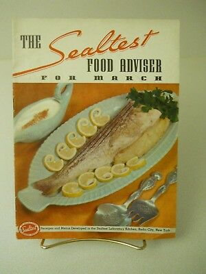 1937 The Sealtest Food Adviser For March 1937 Recipes 15 Pages