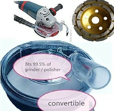 """7 Inch universal Dust shroud for grinder polisher 7"""" grinding cup concrete floor"""