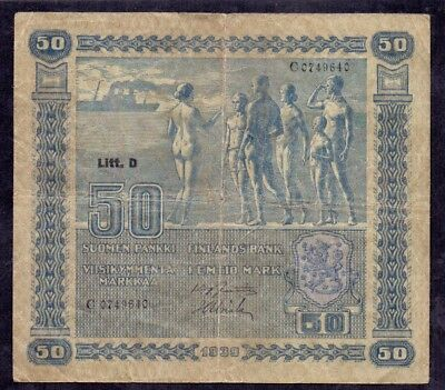 50 Mark From Finland 1939